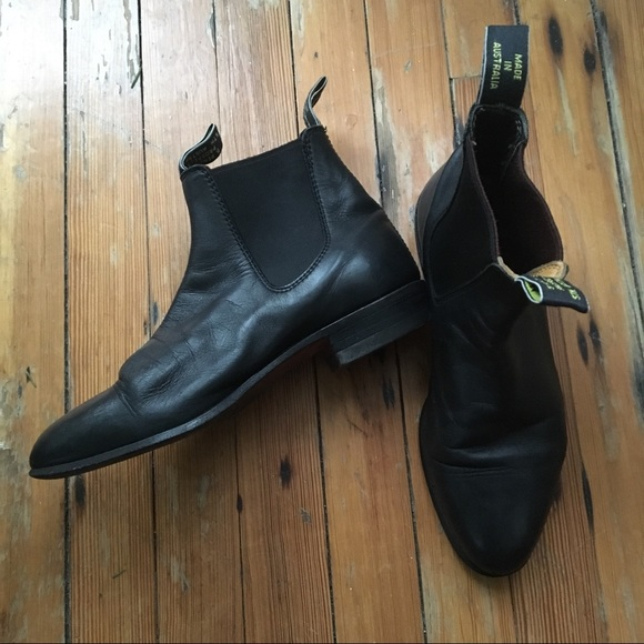 d9fe2f7be6b R.M. Williams Black Chelsea Ankle Boots SZ 7.5 8